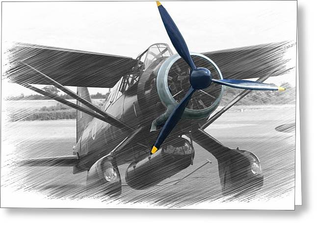 Lysander In Readiness Greeting Card by Donald Turner