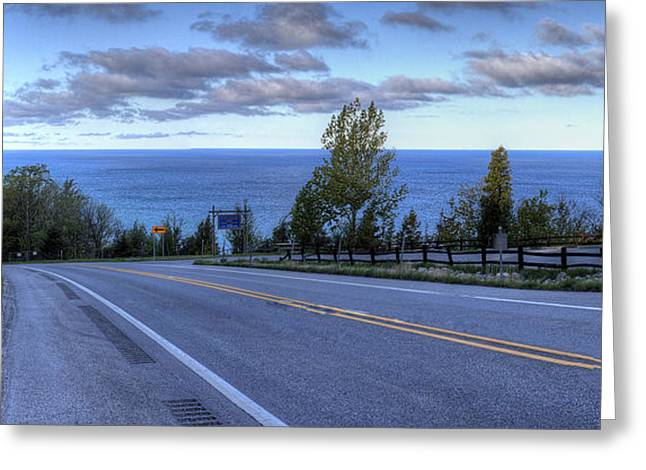 M-22 At The Arcadia Overlook Greeting Card