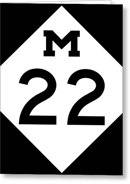 M 22 Greeting Card