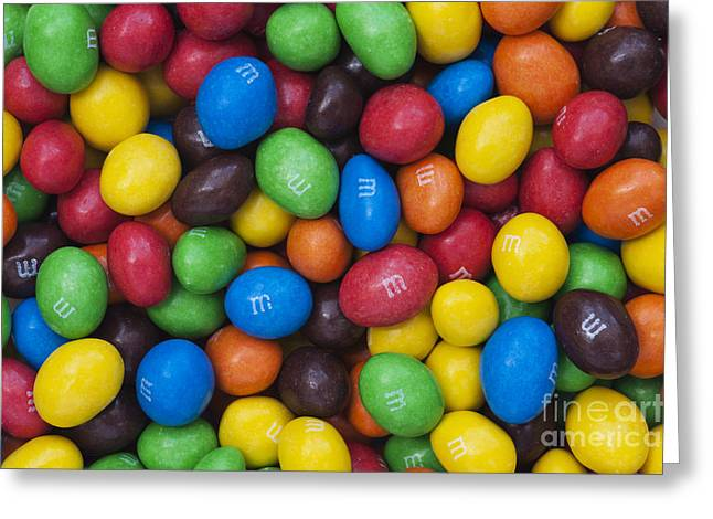 M And Ms Greeting Card