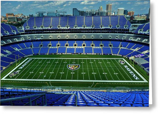 M And T Bank Stadium Greeting Card