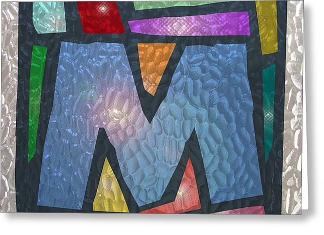 M As Stained Glass Greeting Card