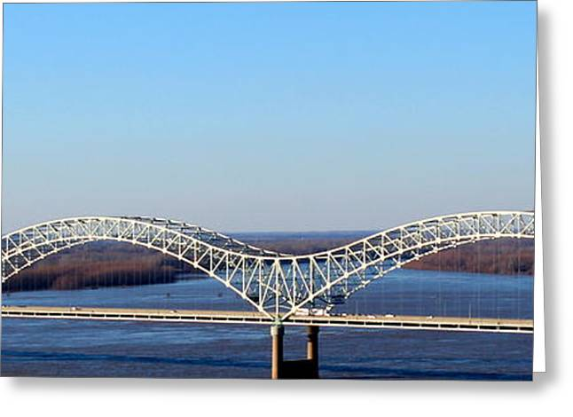 Greeting Card featuring the photograph M Bridge Memphis Tennessee by Barbara Chichester