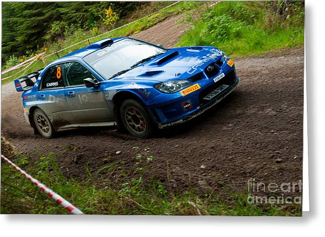 M. Cairns Driving Subaru Impreza Greeting Card