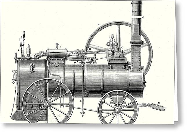 M. Callas Traction Engine Greeting Card by English School
