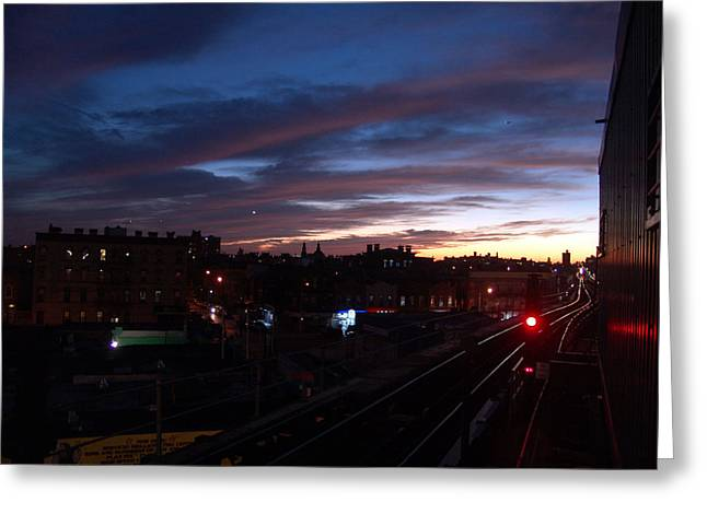 M Train Ststion Greeting Card