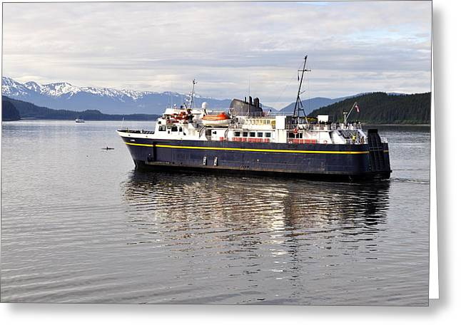 Greeting Card featuring the photograph M/v Leconte by Cathy Mahnke