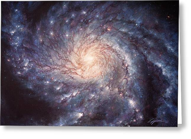 M101 Pinwheel Galaxy Greeting Card