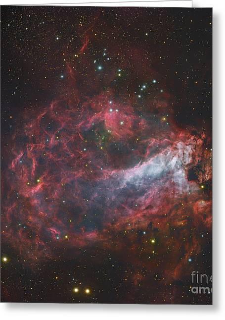 M17, The Omega Nebula In Sagittarius Greeting Card by Robert Gendler