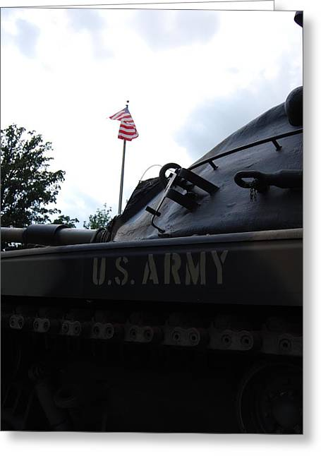 Greeting Card featuring the photograph M60a3 Us Tank 05 by Ramona Whiteaker