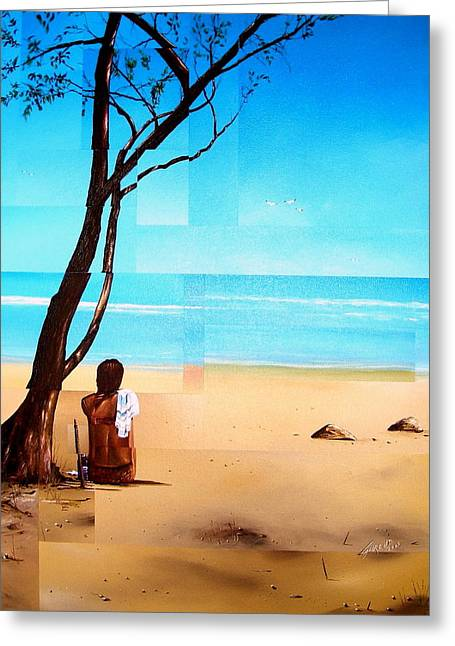 Ma Plage Privee Greeting Card by Laurend Doumba
