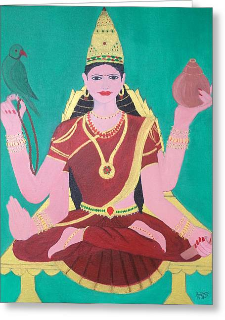 Ma Sharada Greeting Card by Pratyasha Nithin