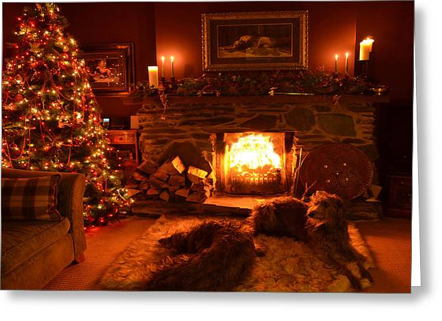 Ma Wee Room At Christmas Greeting Card by Joak Kerr