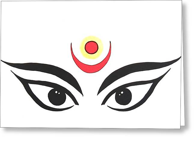 Maa Kali IIi Greeting Card by Kruti Shah
