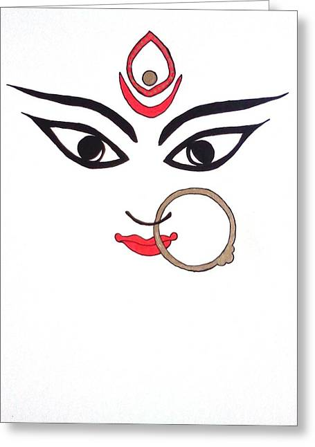 Maa Kali Greeting Card
