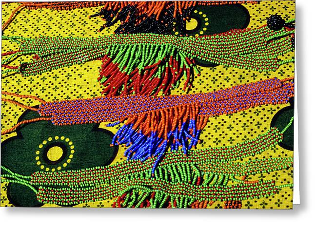 Maasai Beadwork Greeting Card by Michele Burgess