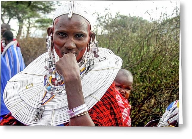 Maasai Meeting Of The Elders Greeting Card