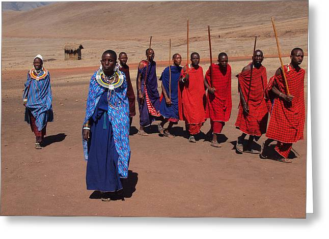 Maasai People Greeting Card