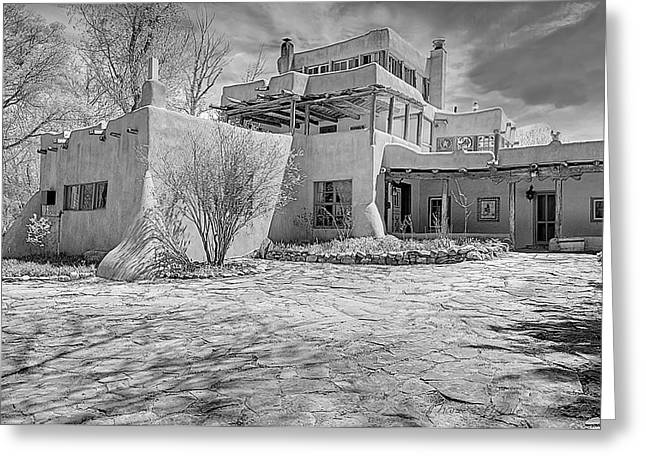 mabel dodge luhan house in b w greeting card by charles muhle. Cars Review. Best American Auto & Cars Review