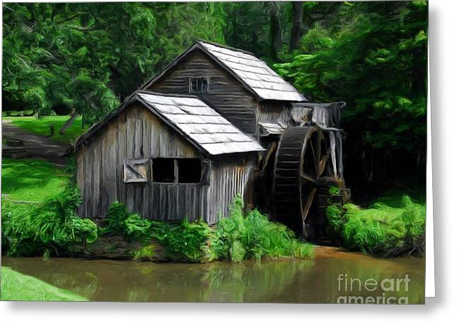 Mabry Mill 4 Greeting Card by Mel Steinhauer