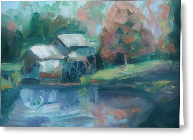 Mabry Mill Greeting Card by Donna Tuten