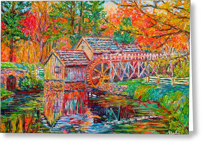Mabry Mill In Fall Greeting Card