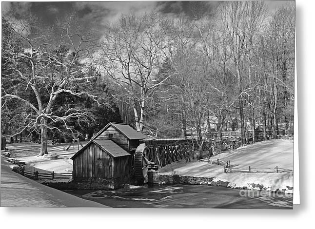 Mabry Mill In Snow Greeting Card