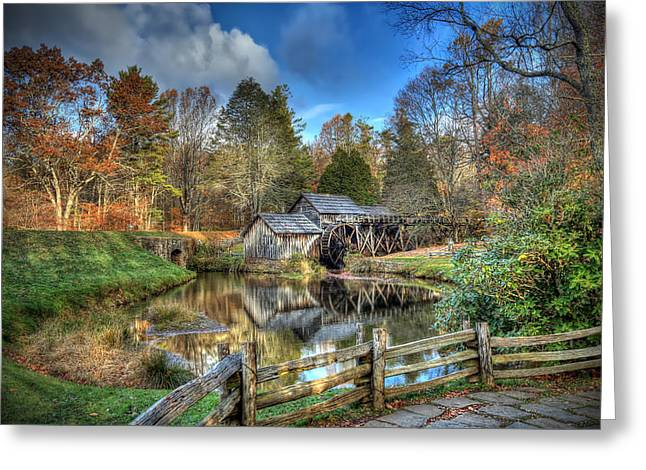 Mabry Mill Greeting Card by Jaki Miller