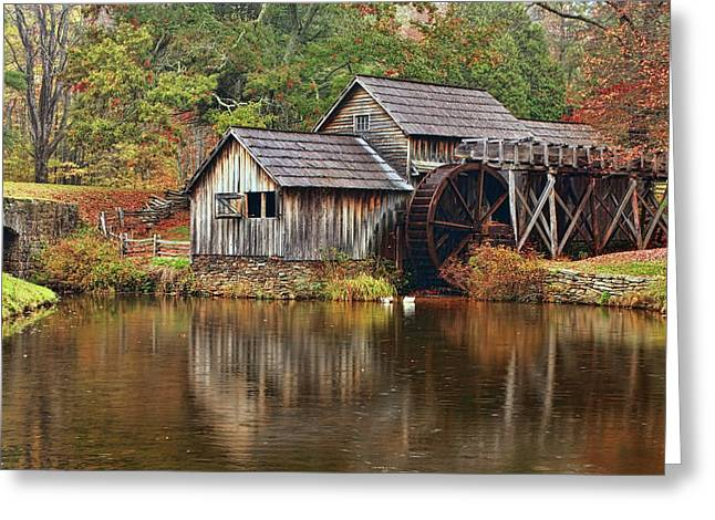 Mabry Mill Greeting Card by Marcia Colelli