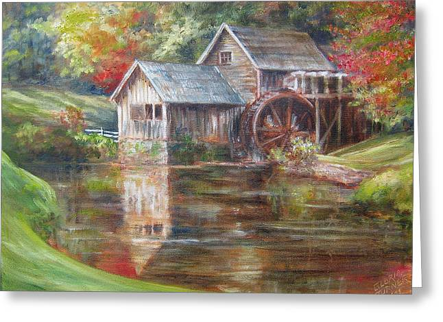 Mabry Mill Sold  Greeting Card by Gloria Turner