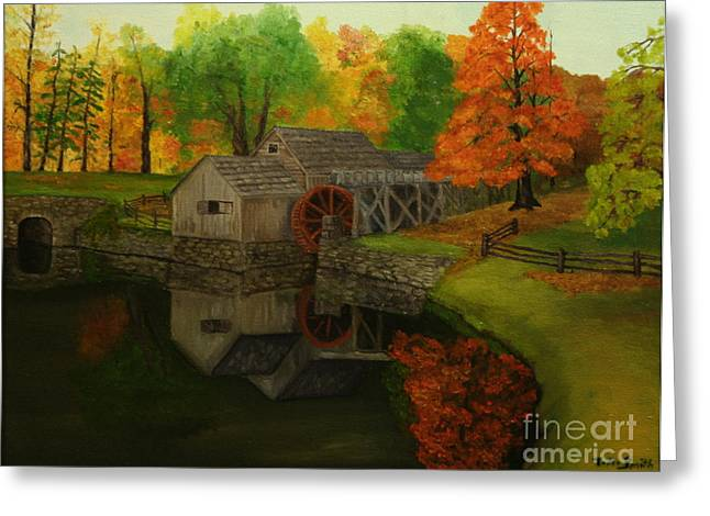 Mabry Mill Greeting Card by Timothy Smith