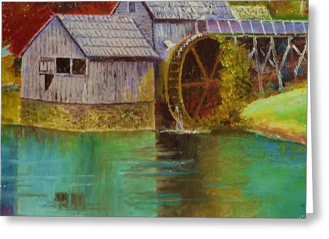 Mabry Mill View Greeting Card by Anne-Elizabeth Whiteway