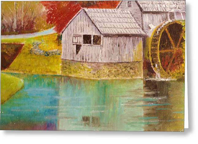Mabry Mill View II Greeting Card by Anne-Elizabeth Whiteway
