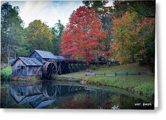 Mabry Mill  Greeting Card by Walt  Baker