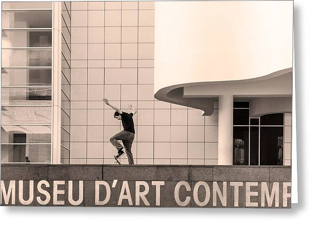 Macba, Barcelona Greeting Card
