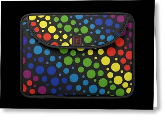 #macbook #cover #rainbow #awesome Greeting Card by Mandy Shupp
