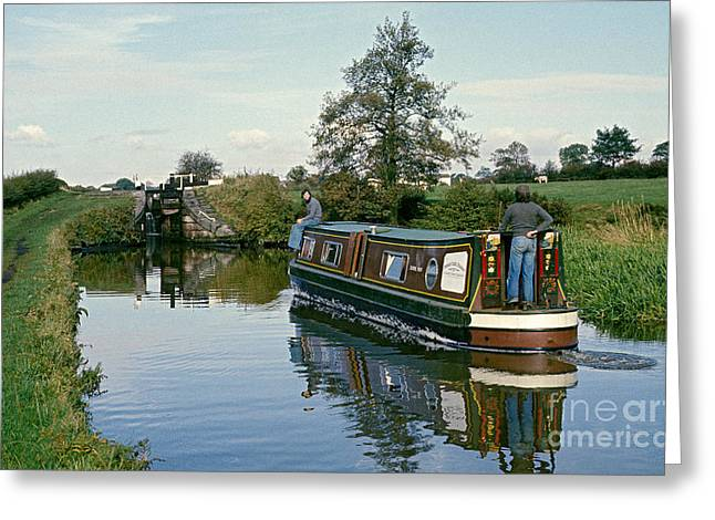 Macclesfield Canal 1975 Greeting Card by David Davies
