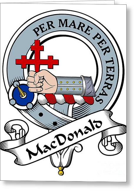 Macdonald Of Sleat Clan Badge Greeting Card by Heraldry
