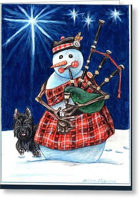 Macfrosty Greeting Card by Beth Clark-McDonal
