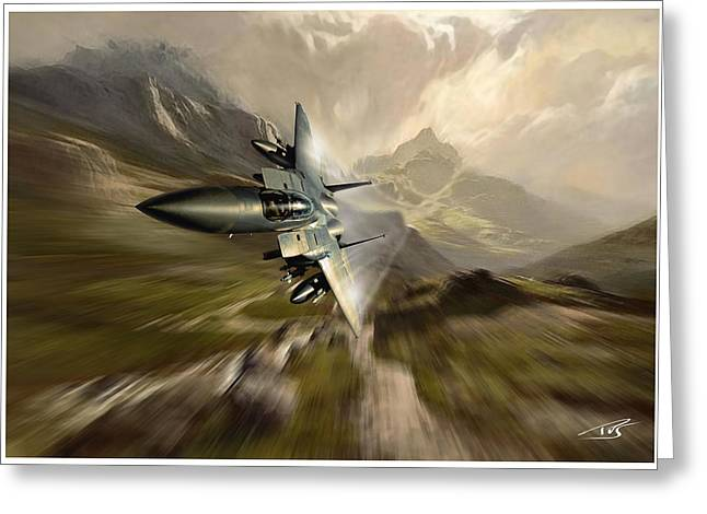 Mach Loop Mudhen Greeting Card by Peter Van Stigt