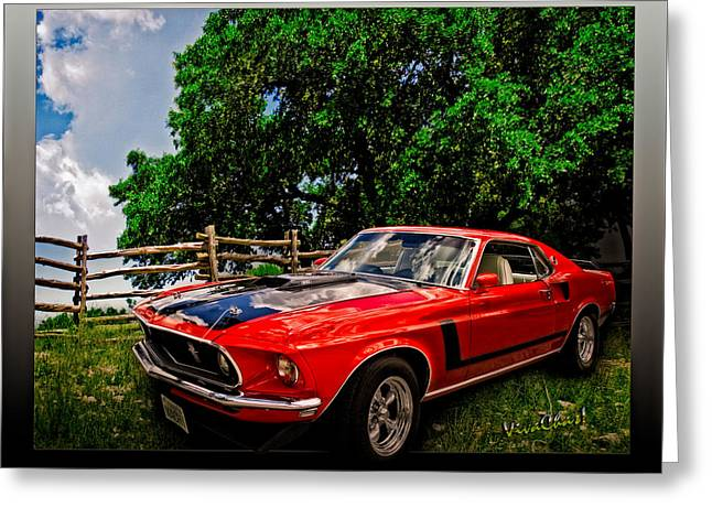 1969 Ford Mach 1 Mustang Greeting Card