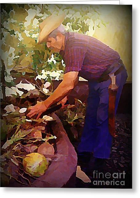 Machete Man In Trinidad Greeting Card