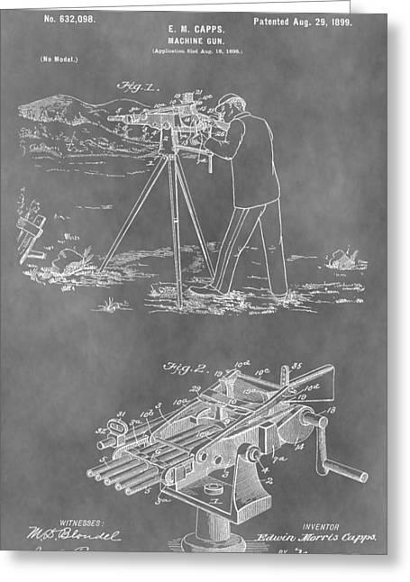 Machine Gun Patent Greeting Card