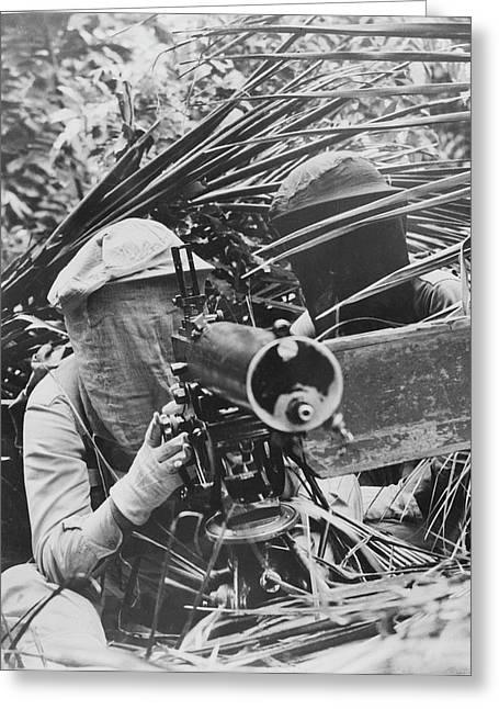 Machine Gunners In The Caribbean Area Greeting Card by Stocktrek Images