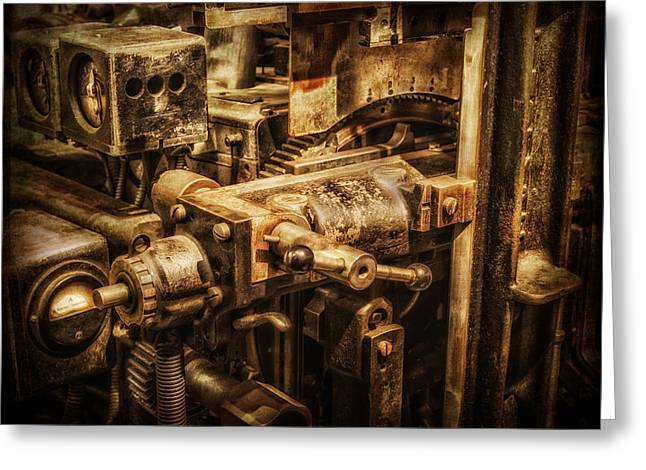 Machine Part Greeting Card by Dobromir Dobrinov