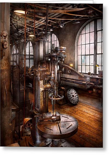 Machinist - Industrial Drill Press  Greeting Card