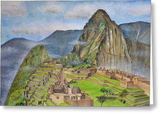 Machu Picchu Greeting Card by Swati Singh