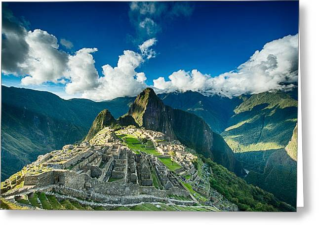 Machu Picchu Greeting Card by Ulrich Schade