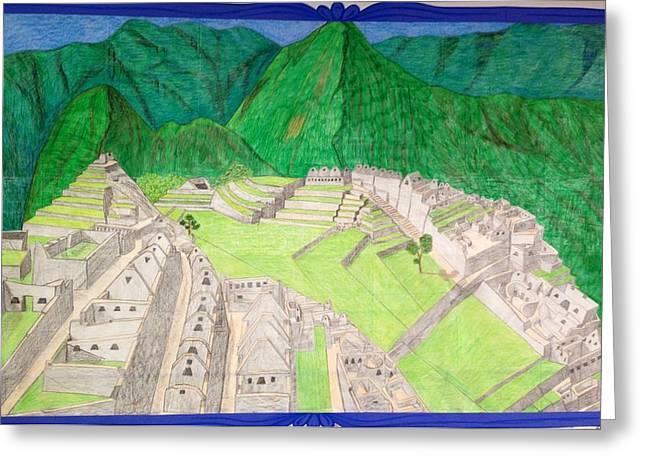 Machu Picchu Greeting Card by Yusbel Lopez