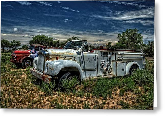 Greeting Card featuring the photograph Mack Fire Truck by Ken Smith